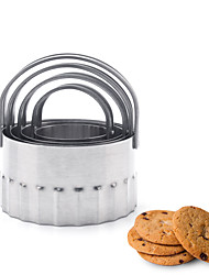 cheap -Halloween 4pcs Stainless Steel Multifunction DIY For Bread For Cookie Multifunction Round Cake Cutter Pie Tools Bakeware tools