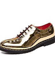 cheap -Men's Formal Shoes PU Spring & Summer / Fall & Winter Casual / British Oxfords Black / Gold / Silver / Party & Evening