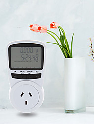 cheap -TS-1500 Electronic Energy Meter LCD Energy Monitor Plug-in Electricity Meter for EU Plug Monitor Electronic Energy