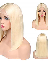 cheap -Human Hair Lace Front Wig Bob style Brazilian Hair Straight Blonde Wig 130% Density Women Best Quality New New Arrival Hot Sale Women's Short Wig Accessories Human Hair Lace Wig Laflare