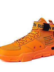 cheap -Men's Comfort Shoes PU Fall & Winter Sporty Sneakers Breathable Green / White / Orange