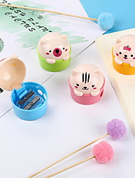 cheap -Cute Cartoon Cat Plastic Pencil Sharpener For Kids Student Stationery