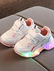cheap -Girls' LED / Comfort / LED Shoes Mesh Athletic Shoes Little Kids(4-7ys) Walking Shoes LED Purple / Yellow / Pink Spring / Summer / Rubber