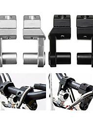 cheap -7/8 Inch 1 1/8 Inch Handlebar Riser Max Heigh 2 Inch Universal Motorcycle - Silver