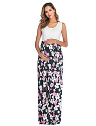 cheap -Women's Midi Maternity Blushing Pink Black Dress Shift S M