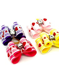 cheap -Dogs Ornaments Hair Accessories For Dog / Cat Bowknot Decoration Stripes Heart Love Metalic Polyester Rubber Rainbow