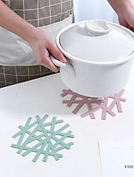 cheap -3pcs Snowflake Shape Heat-resistant Placemat Home Hollow Casserole Pad Anti-hot Mat