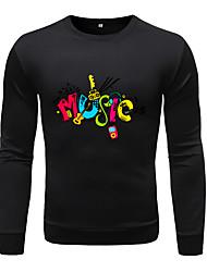 cheap -Men's Casual Sweatshirt - Geometric / Color Block / Tie Dye Black US32 / UK32 / EU40