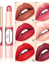 Недорогие -поцелуй красота 6 цвет позолоченная помада длительное увлажнение перламутровый матовый блеск для губ водонепроницаемый немаркая макияж губ