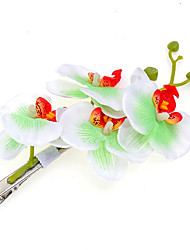 cheap -Women Butterfly Orchid Imitation Flowers Hair Clips Wedding Bridal Headdress