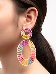 cheap -Women's Drop Earrings Hollow Out Ball Fashion Cute Folk Style Earrings Jewelry White / Black / Rainbow For Carnival Street Festival 1 Pair