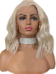 cheap -Synthetic Lace Front Wig Wavy Side Part Lace Front Wig Blonde Short Blonde Synthetic Hair 12-16 inch Women's Adjustable Heat Resistant Party Blonde