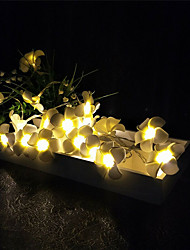 cheap -20 LED Plumeria Flower Fairy String Lights Battery Powered Party Wedding Christmas Decorative Lighting