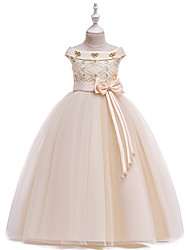 cheap -Princess Dress Girls' Movie Cosplay Cosplay Halloween Purple / Pink / White Dress Halloween Carnival Masquerade Tulle Polyester