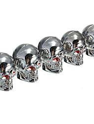 Недорогие -5 шт. Шина воздушные клапаны крышка красные глаза черепа шин стволовые пылезащитные колпачки для автомобиля грузовик мотоцикл