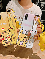 cheap -Case For Apple iPhone XS / iPhone XR / iPhone XS Max Dustproof / IMD / Pattern Back Cover Cartoon Soft TPU