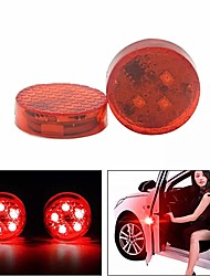 cheap -2PCS 5 LED Car Door Open Warning Light Anti-collision Red Flashing Signal Lamp Waterproof with Magnetic Sensor