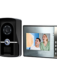 cheap -7 inch wired video doorbell HD villa video intercom outdoor unit night vision rain unlock function