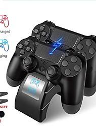 Недорогие -комплекты зарядного устройства для PS4 / PS4 Slim / PS4 проп двойной беспроводной контроллер зарядное устройство для Sony PS4 джойстик базы быстрой зарядки