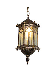 cheap -Oil Rubbed Pendant Light Outdoor Waterproof Garden Wall Lantern Pendant Lamps for Hallway Warehouse Farm House Bronze