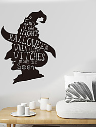 cheap -Halloween Wall Stickers - Words &ampampamp Quotes Wall Stickers Characters Study Room / Office / Dining Room / Kitchen