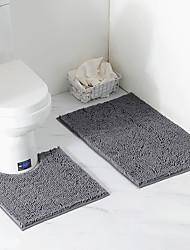 Недорогие -Yiwu pho_08aq Синель плюшевый ковер ванная комната из двух частей коврик для туалета впитывающая воду ванная комната противоскользящая нил пол коврик 50 × 80 см / 50 × 50 см (из двух частей) _Pink