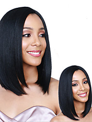 cheap -Synthetic Wig Natural Straight Bob Wig Short Black#1B Synthetic Hair 10 inch Women's Party Women Black