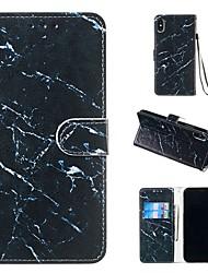 Недорогие -чехол для яблока iphone xr / iphone xs max магнитный / откидной / с подставкой для всего корпуса футляр из искусственной кожи мрамора для iphone 5 / se / 5s / 6 / 6s plus / 7/8 plus / xs / x