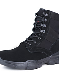 cheap -Men's Hiking Shoes Hiking Boots Windproof Breathable Anti-Slip Sweat-wicking High-Top Hiking Active Training Travel Autumn / Fall Spring Black