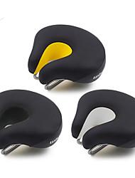 abordables -Selle de Vélo Extra large Respirable Confort Professionnel Cuir Acier Mousse à Mémoire Cyclisme Vélo de Route Vélo tout terrain / VTT Cyclotourisme Noir Noir / Blanc Noir / jaune. / Epais / Epais