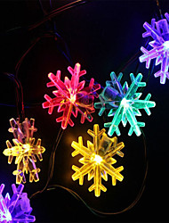 cheap -40 LED 6 Meters Christmas Party Wedding Outdoor Decor Snowflake Light String
