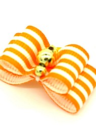 cheap -Dogs Cats Ornaments Hair Accessories For Dog / Cat Bowknot Decoration Stripes Metalic Polyester Rubber Orange