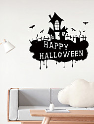 cheap -Happy Halloween Wall Stickers - Animal Wall Stickers Animals / Landscape Study Room / Office / Dining Room / Kitchen
