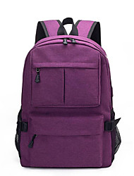 cheap -Large Capacity Oxford Zipper School Bag Solid Color Daily Black / Purple / Light Grey / Fall & Winter