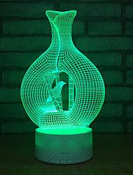 Недорогие -птичья клетка 3d красочный ночной свет светодиодные 3d дети атмосфера атмосфера привело небольшой подарок 3d