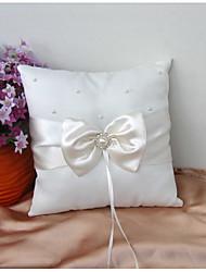 cheap -Plain Sateen / Satin Bowknot / Crystals / Rhinestones Satin Ring Pillow Pillow All Seasons