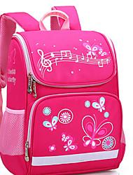 cheap -Large Capacity Nylon Zipper School Bag Scenery Daily Black / Purple / Fuchsia / Girls'