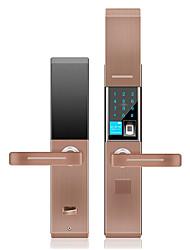 cheap -Semi-automatic fingerprint lock password lock home anti-theft smart lock induction card electronic door lock damping slide