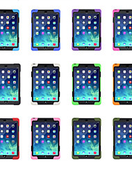 cheap -Case For Apple iPad Air / iPad 4/3/2 / iPad Mini 3/2/1 360° Rotation / with Stand Back Cover Solid Colored Soft Silicone / Plastic