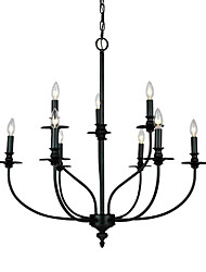 cheap -9-Light 73 cm Mini Style Chandelier Metal Mini Painted Finishes Traditional / Classic / Country 110-120V / 220-240V