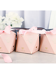 cheap -irregular Card Paper Favor Holder with Ribbons Gift Boxes / Cookie Bags - 50 Pieces