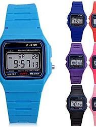 Недорогие -Спортивные часы силиконовый Цифровой Светло-синий