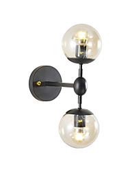 cheap -Nordic Simple Wall Lighting Glass Wall Light Double Head Wall Sconce Wall Lighting Spherical Lighting Fixture for Bedroom Living Room Wall Mounted Height Adjustable