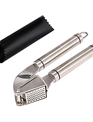 cheap -304 Stainless Steel Handle Grillers Epicurean Garlic Press and Peeler Set Mincer and Silicone Tube Roller for Peeling Clove Skin