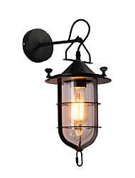 cheap -Industrial Wall Light American Creative Cages Wall Sconces Corridor Wall Lamp Stairs LED Wall Mount Lights Black