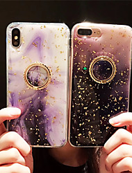 Недорогие -Кейс для Назначение Apple iPhone XS / iPhone XR / iPhone XS Max Защита от пыли / Кольца-держатели / IMD Кейс на заднюю панель Цвет неба / Градиент цвета ТПУ