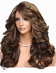 cheap -Synthetic Wig Body Wave Layered Haircut Wig Very Long Flaxen Synthetic Hair 62~66 inch Women's New Arrival Brown