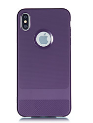 cheap -for iPhone XS MAX Carbon Fiber Pattern TPU Non-slip Shockproof Full Protective Back Cover Case