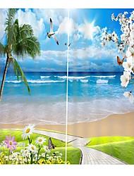 Недорогие -современные 3d цифровые печатные шторы утолщенные полные затемнения звукоизоляционные тканевые шторы для спальни водонепроницаемый влагостойкие кухонные шторы