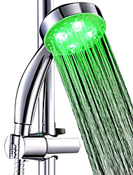 cheap -3 Colors LED Showerhead handheld Bath Sprinkler Water Glow LED Top Shower Head Temperature Sensor Shower head